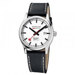 Reloj Mondaine Sport Day Date Piel Negra