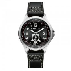 Reloj Hamilton Khaki Aviation QNE Auto Negro Piel Negra