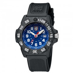 Reloj Luminox Navy Seal Azul Silicona Negra 44 mm.