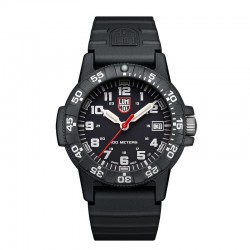 Reloj Luminox Leatherback Sea Turtle Negro Blanco Caucho 39 mm.