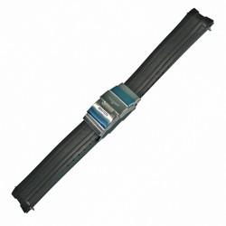 Correa Longines Caucho negro Hydroconquest 21 mm