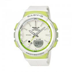Reloj Casio Baby-G Analogico Digital Verde Limón Blanco BGS-100-7A2ER